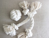 dog toy / set of 3 rope knot toys