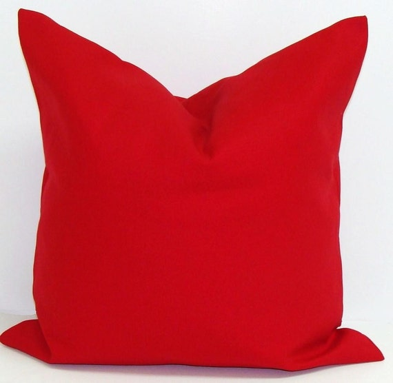 SOLID RED Pillow Covers. Red Pillow Cover by ElemenOPillows