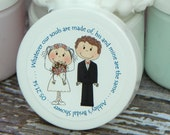 Wedding or Bridal Shower Favors - Personalized Whipped Body Butter (Mr. & Mrs. Design #1) - 2 oz - Paraben Free
