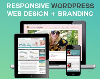 Custom Wordpress Website Design and Development, Logo Design | Professional, Custom, Mobile Responsive