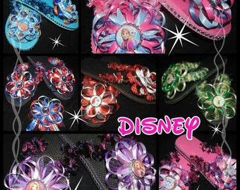 Disney Flip Flops  - this listing is for 1 pair Adult   - bottle cap images