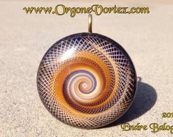 Sacred Geometry Orgone Tesla Pendant- Feat. Artist Endre Balogh - EMF Blocker - Chakra Balancing - FREE Necklace - Hand Made