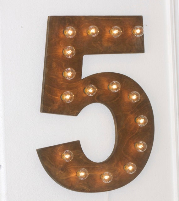 24 big vintage marquee letter or number lighted by for Large vintage marquee letters