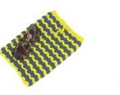 "Women iPad Bag, Crochet ipad sleeve, Crochet iPad cover, 8"" x 10"", Mobile Pouch, ipad bag case,  Blue, Yellow, Striped iPad case, Kindle bag"