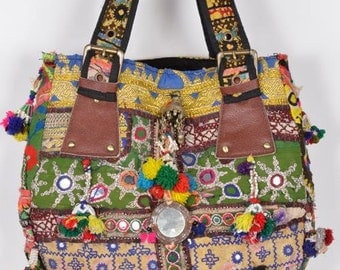 Vintage Banjara Hand Bag Hobo Tote Ethnic Tribal Gypsy ID43820