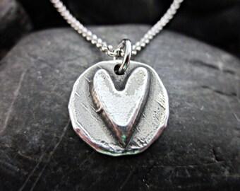 Completely Handmade Heart Pendant