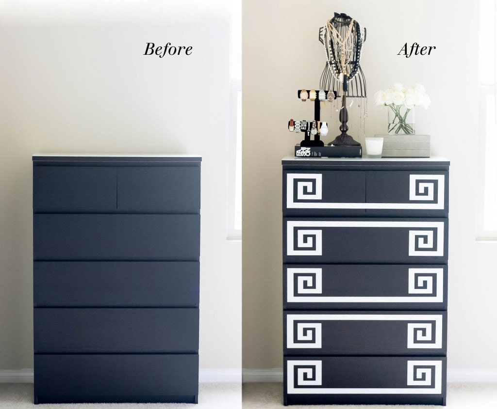 Ikea Furniture Hack Greek Key Decals Malm Dresser By Lulukuku