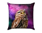 Outer Space Owlette - Original Graphic Sofa Throw Pillow