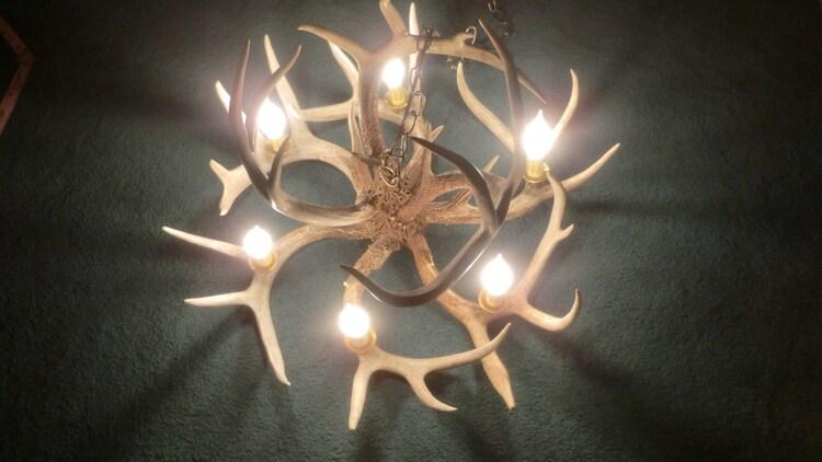 Deer Antler Chandelier 6 Light Real Antlers By Antler4u On