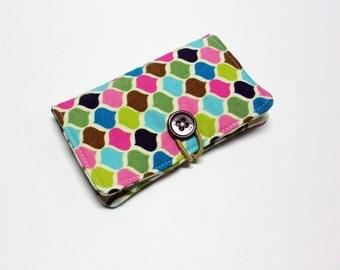 Roco Beat Ornamental Fabric Business Card Holder, with Squash Blossom Swirls - Credit Card Holder, Cloth Card Holder, Gift Card Holder