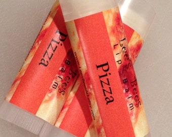 PIZZA Lip Balm - New Flavor Beeswax Lip Salve Chapstick from Lee the Beekeeper