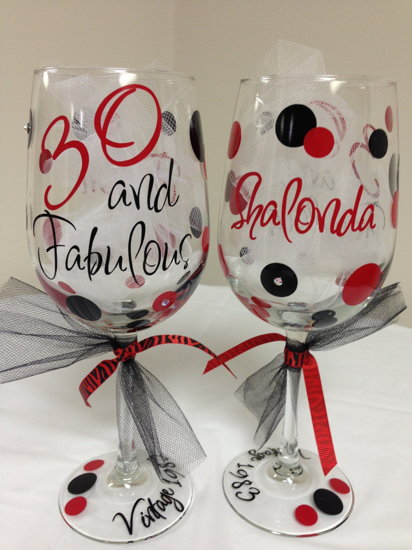 30 40 50 60 And Fabulous Birthday Wine Glass