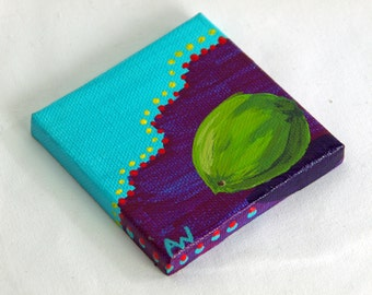 Wonder Why Lime by Alex Whatton // miniature painting