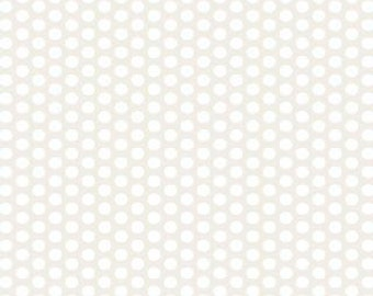 Muslin Mates Polka Dots White 9972 11  from Moda- 1 yard