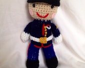 Crochet US Marine Corp Doll