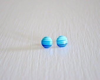 Blue Ombre Stud Earrings
