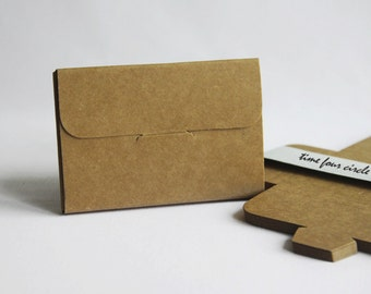 Set of 50, Kraft Post Card Gift Box, Favor, Gift, Party