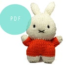 Knitting Pattern - Miffy Baby Rattle Toy