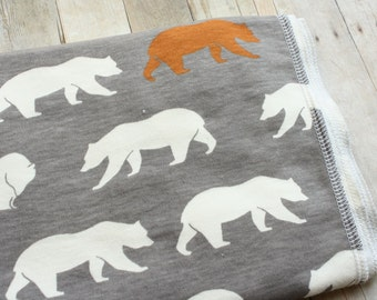 Bear Organic Baby Blanket | Woodland Animal Receiving Blanket by JuteBaby