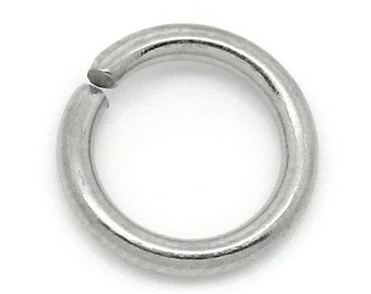 100pcs 8mm Stainless Steel Jump Ring - 16 Gauge, Jewelry Finding, Jewelry Making Supplies, Chainmaille, DIY Crafting, Ships from USA  - JR84