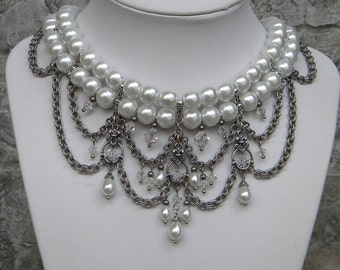 Holiday Sale....Divine Decadence......white and silver