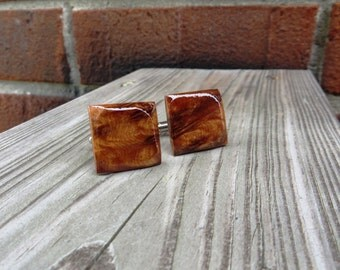 Thuya Burl Wood Cuff Links Handmade