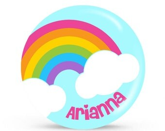 Personalized Plate - Over the Rainbow - Personalized Plate for Girls