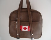 Vintage Tourister Tote Style Luggage / Flight Bag / Dionite / MOD / Luggage / Brown / Faux Leather