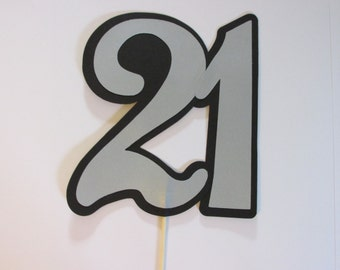 21 on a stick, Wedding photo props, photo booth props,  21 photo prop
