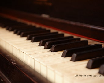 Music Photography Vintage Piano Brown 8x12