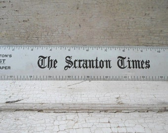 Metal Ruler, Vintage Advertising, Newspaper, Office Supplies, Industrial, Prop, The Office, Scranton, Desk Supplies, Vintage Office