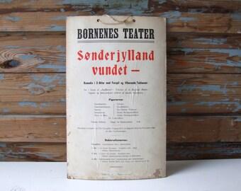 Antique 1910s Theater Poster Program