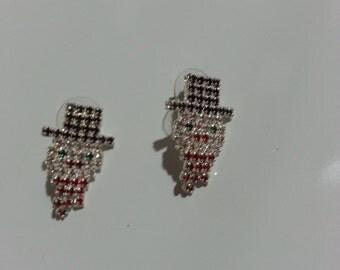 Great Pair of Vintage OTC Snowman Earrings