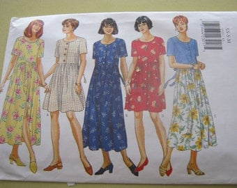 Butterick 4333 Pattern Dress Short and Long Dress Xs-S-M Size Out of Print