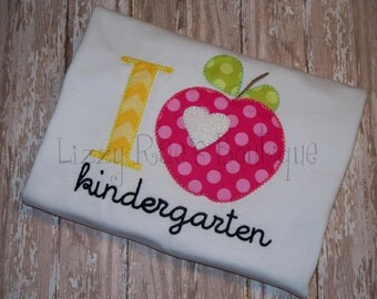 Back to School applique shirt- Back to School outfit