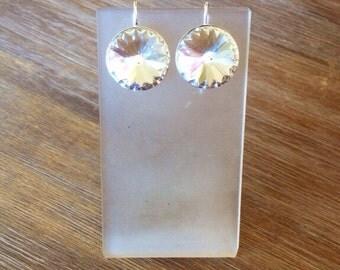 Gorgeous Swarovski Drop Earrings in Silver or Gold