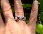 Sterling Silver owl eyes Ring