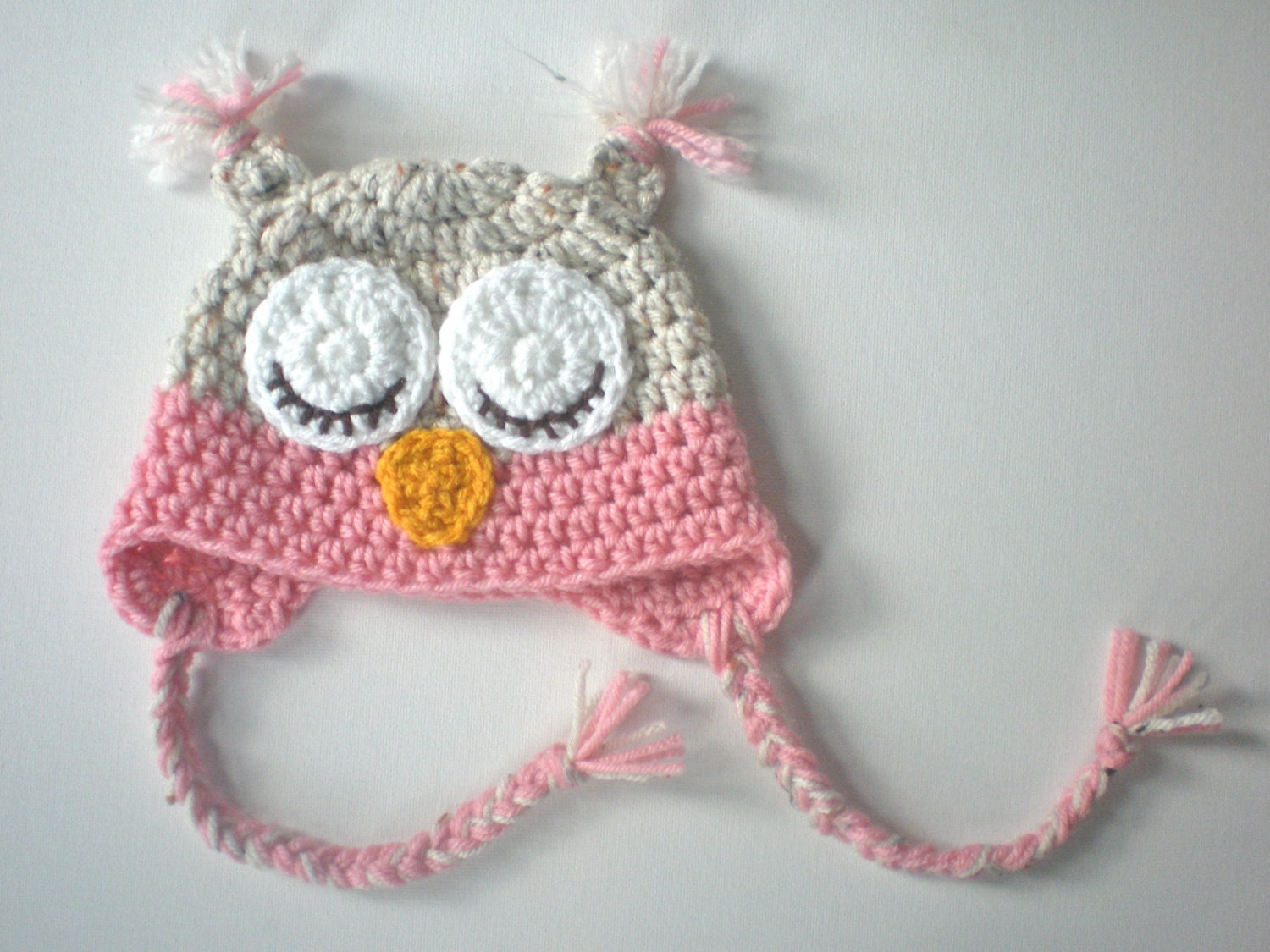 Pattern owl hat size newborn to adult easy crochet pdf zoom bankloansurffo Image collections