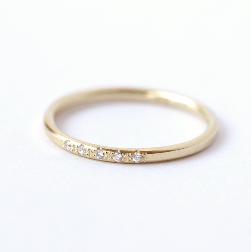 wedding ring thin band dainty wedding ring