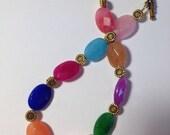 Multicolor Jade Stone Bracelet
