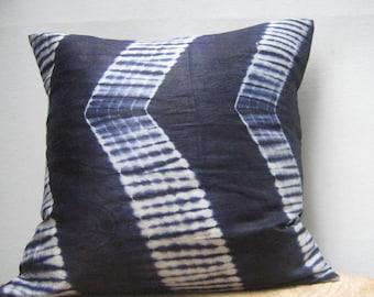 Indigo Batik Pillow, Decorative pillow