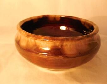 Brown Drip Stoneware Bowl   p308