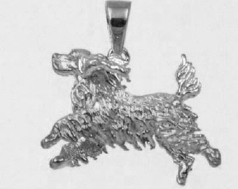 RUNNING COCKER SPANIEL Dog Charm in 925 Sterling Silver  25-1