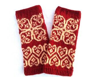 Wool fingerless gloves,merino wool glove,womens wrist warmers,wool fingerless mittens,autumn/winter fashion accessory,Christmas gift for Her