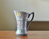 SALE Scheurich Mid Century Vase  - Grey Fat Lava Vase - West German Pottery