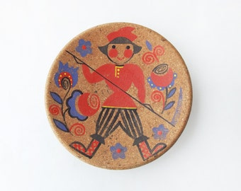Vintage Decorative Cork Plate for Wall Decor, Wall Hanging