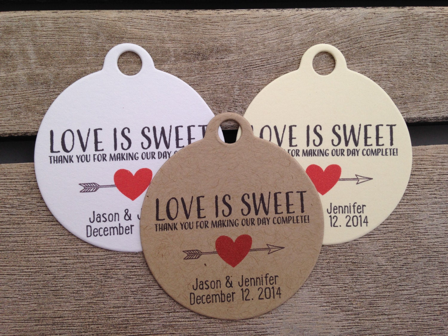 Wedding Gift Tags Love Is Sweet Wedding Favor Tags