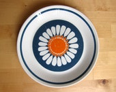 Figgjo Turi Daisy plate, colorful vintage Norwegian tableware