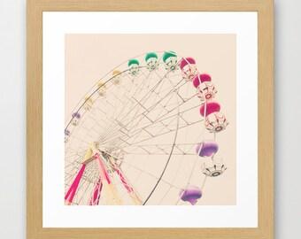 SALE, Neutral nursery decor, ferris wheel decor, swing chair, nursery wall art, toddler wall art, nursery prints, baby room wall art, baby