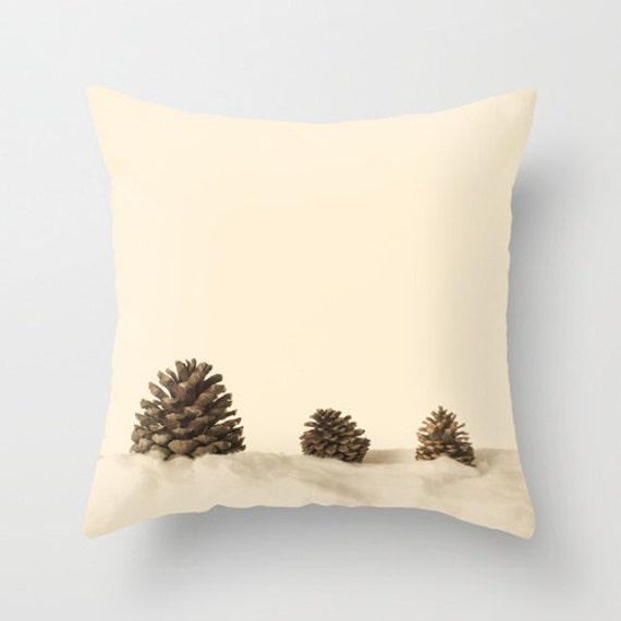 VENTE coussins/couverture, oreiller marron, blanc oreiller, oreiller crème, couch décor rustique, décor français, oreiller d'automne, cône du pin, oreiller, oreillers